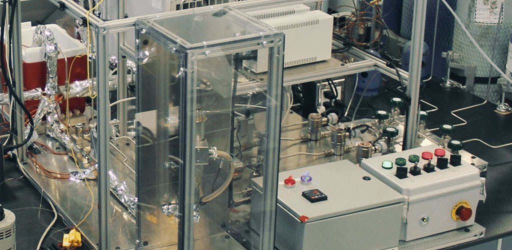 The methanol reactor at Edmonton-based Quantiam Technologies is an important part of their work to produce methanol from captured CO<sub><figcaption id=